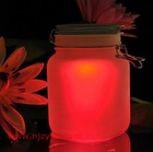 colorful sun jar light for decoration