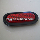 SAE 6 inch Oval LED Trailer Rear Light with PVC Grommet