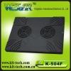 k-504f double fan laptop cooling pad