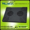 k-504f double fan laptop cooling pad