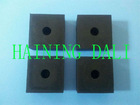 Natural rubber block square for shock absorption