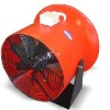 Portable exhaust flow fan