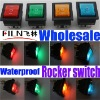 New style Green blue yellow red 12V 24V 110V 250V waterproof in line on off on switch