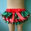 Christmas design satin diaper cover for girls