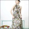 2012 latest women's O-neck long dress