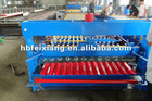 Corrugated roof making machine