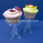 stylish acrylic single cupcake stand