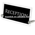 2013 new design Acrylic Sign Holder 17cm x 8cm