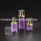Square Cosmetic Packaging Acrylic PMMA Dip Lotion Bottle