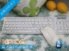 Newwest 2.4G Mini Wireless White Keyboard and Mouse combo