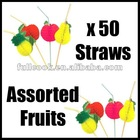 3D FRUIT COCKTAIL DRINKING STRAW