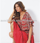 8TP469New! Silk Printed ladies' tops