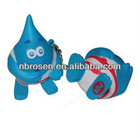 water drop stress ball, water drop mascot costume
