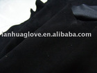 A&B&C grade soft deer leather of black color