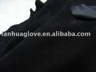 A&B&C grade soft deer leather of black color