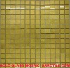 Luxury and fancy real gold 24-carat glass mosaic