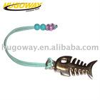 2012 fish bone shape cellphone ornaments