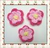 Hand apparel crochet flower applique
