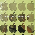 Solid metal electroformed decal,gloss gold metal transfers apple logo