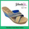 PU casual high heel slipper 2012