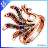 hot sale cheap wholesale fashion new latest peacock design for women with price diamond gold ring designs