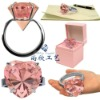 crystal napkin ring & diamond napkin holder