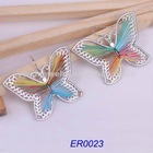 Rainbow latest fashion butterfly alloy earring 2012