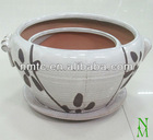 Ceramic glazed flower pot