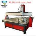 cnc router antique furniture engraver /woodworking machinery / 3D cnc router for wood machine QD-2030 hot sale CNC machine
