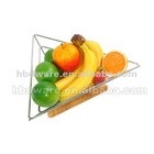Triangle wire fruit basket