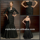 2012 Black Meimaid Taffeta Mother of the Bride Dress