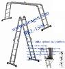 Alu. multi-function/combination folding step ladder