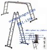 Alu. multi-function/combination folding step ladder