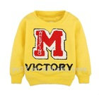 Boys long sleeve fleece letter hoodies