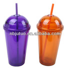 16oz dome lid plastic cups with straw