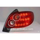 Peugeot 206 tail lamp tail light crystal