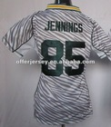 Womens Zebras PACKERS sportswear JENNINGS White Jerseys Authentic Football Sports jersey S-XXL Wholesale Mixed Order - ALL are