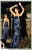 2013 New Arrival Sweetheart Neckline Strapless Blue Mermaid Long Evening Dress