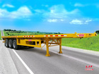 Qualified Tridem Flatbed Semi Trailer