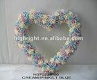 decorative artificial wedding rose heart wreath