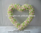 decorative artificial wedding rose heart wreath