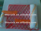 HOT 4'' 6''Polyester roller brush yellow plastic handle with plastic gridding red tray sets