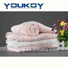 plain dyed floral bamboo fiber thick bath towel