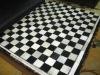Cow hide patchwork rug