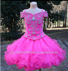 GD121902 New Arrival Cute 2013 Cap Sleeve Beaded Custom-made Mini Organza Dresses for Girls of 7 Years Old