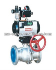 Pneumatic operated O-Type Stainless SteelBall Valve