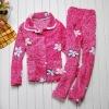 100%cotton suiting thicken flower cute children bathrobe
