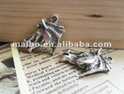 Antuqued Silver Horse Head Pendant DIY Accessory