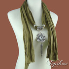 woman crystal pendant scarves new fashion