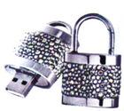Luxury OEM Lock Style Jewellry USB Flash Driver